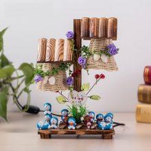 哆啦A梦公仔微景观台灯,一款清新自然的创意礼品台灯