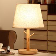美式简约木质床头灯,古色古香的唯美艺术品