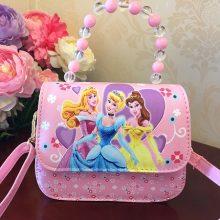 迪士尼儿童手提斜挎包,满足小女孩的粉红公主梦