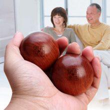 实心花梨木质保健按摩手球,拿在手上把玩的保健球