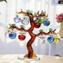 七彩水晶苹果树摆件,一款送亲人朋友的居家好物
