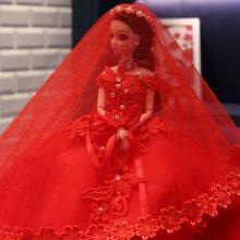 创意高档婚纱娃娃,最浪漫的结婚礼物