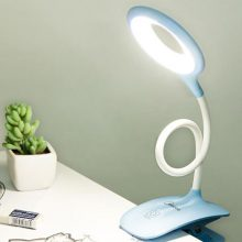 美的可充电式led小台灯,环形设计光感自然护眼