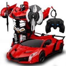 手势感应变形金刚玩具车,只需手势感应一秒变身机器人
