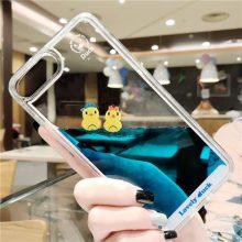 小鸭子液体流动苹果手机壳,创意软胶可爱卡通手机壳