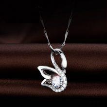Mymiss施华洛世奇人工锆石天鹅银项链,让人心动的情人节礼物