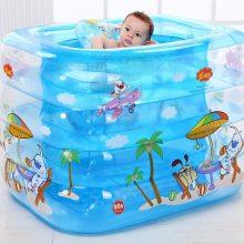 诺澳充气保温卡通婴幼儿游泳池,爱游泳的宝宝更健康更聪明