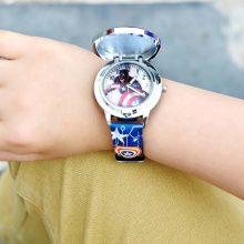 迪士尼翻盖卡通儿童手表,时尚创意美国队长手表