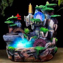 假山流水喷泉招财摆件,送一份财源广进、流水生财的祝福