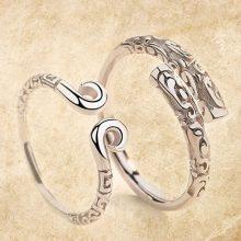 925银紧箍咒情侣对戒,至尊宝爱你一万年的誓言