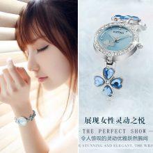 小清新四叶草手链表,一款文艺唯美的女士手链手表