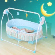 智能电动摇篮床,哄宝宝睡觉的神器(带音乐)