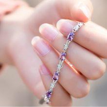 紫水晶chic冷淡风气质银手链,再忙也要好好爱自己