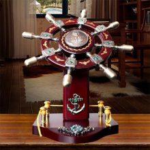 高档木质领航舵工艺摆件,是送给朋友领导的最好礼物