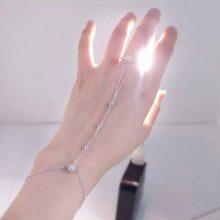抖音同款手背链戒指一体链,让你的手背看起来超美der
