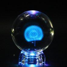 蒲公英标本创意水晶球摆件,送给她一份纯洁的爱