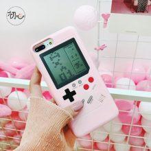 抖音怀旧游戏机手机壳,可以玩俄罗斯方块的手机壳