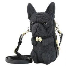 Adamo 3D Bag法国老虎狗斗牛犬单肩包,法斗真的是丑萌丑萌的