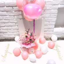 惊喜玫瑰鲜花告白气球礼盒,让ta说出我愿意