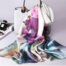 杭州织锦楼丝绸刺绣丝巾,做精致优雅的女人(精美礼盒)