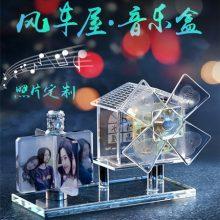 创意diy定制风车屋音乐盒,送女友闺蜜最感动的礼物