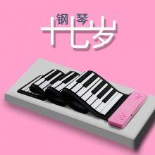折叠便携式电子手卷钢琴,轻松享受饱满震撼音质