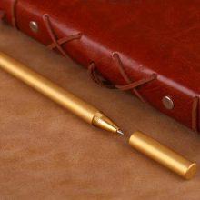 强遥手工个性黄铜签字笔,可以刻字的高档中性笔