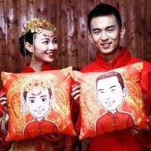 创意DIY人像抱枕,可做结婚礼物情侣抱枕