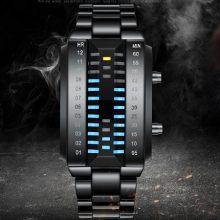 创意LED男士电子表,个性化的LED灯时间显示
