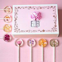 樱花棒棒糖礼盒装,送女友的高颜值又美味的礼物