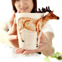 3D立体手绘个性动物杯,给你一款水杯上的奇思妙想