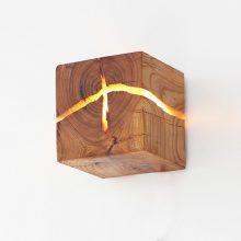 北枝实木LED裂木壁灯,照亮ta蠢蠢欲动的心