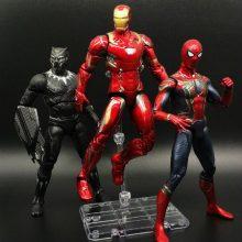漫威复仇者联盟手办,美国队长钢铁侠全身可动人偶模型