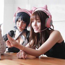 Somic/硕美科猫耳朵头戴式耳机,卖萌是没有罪滴