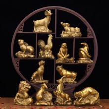 开光纯铜十二生肖摆件,由大师开光的招财旺运摆件