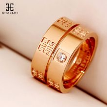 幸运符玫瑰金情侣戒指,将一辈子的幸运带给另一半