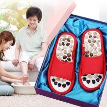 天然砭石鹅卵石按摩拖鞋,让爸妈享受健康足疗