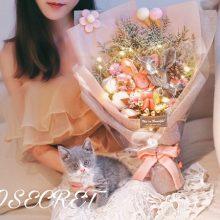 许愿兔干花满天星花束,一款小仙女都爱的浪漫花束
