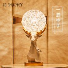 纯手工制作藤球折纸鹿台灯,一款可以DIY刻字的浪漫小夜灯