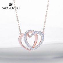 施华洛世奇DEAR双心形项链,女票老婆绝对喜欢的精致礼物