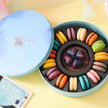 莫轩铁盒马卡龙甜点,精美礼盒装着精致的甜点