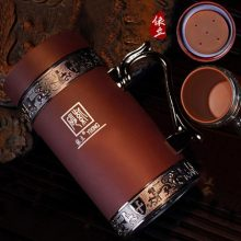 可刻字紫砂保温杯,适合送人的高档商务礼品杯