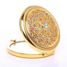 亚格菲真金电镀化妆镜,一款彰显个人魅力的小镜子