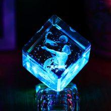 十二星座水晶魔方,一款会发光的梦幻水晶礼物