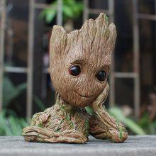 银狐护卫队格鲁特树人笔筒,可种植可卖萌的好玩物