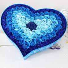 创意渐变香皂玫瑰花礼盒,将永不凋谢的爱送给她