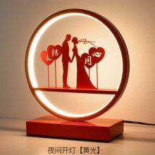 超有创意的浪漫喜庆红色台灯,新婚必备床头卧室灯
