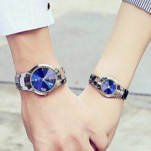 韩流钨钢情侣手表,让你成为韩流引领者