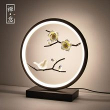 创意中国风禅意装饰灯,可调节亮度的复古雅致台灯