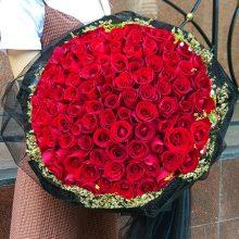99朵玫瑰花精致花束,送给老婆女友最好的献爱之礼